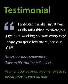Testimonial – Pool renovation, Queenscliff