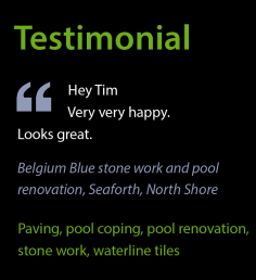 Testimonial – Belgium Blue Pool Renovation
