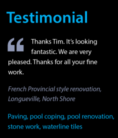 Testimonial – French Provincial Paving