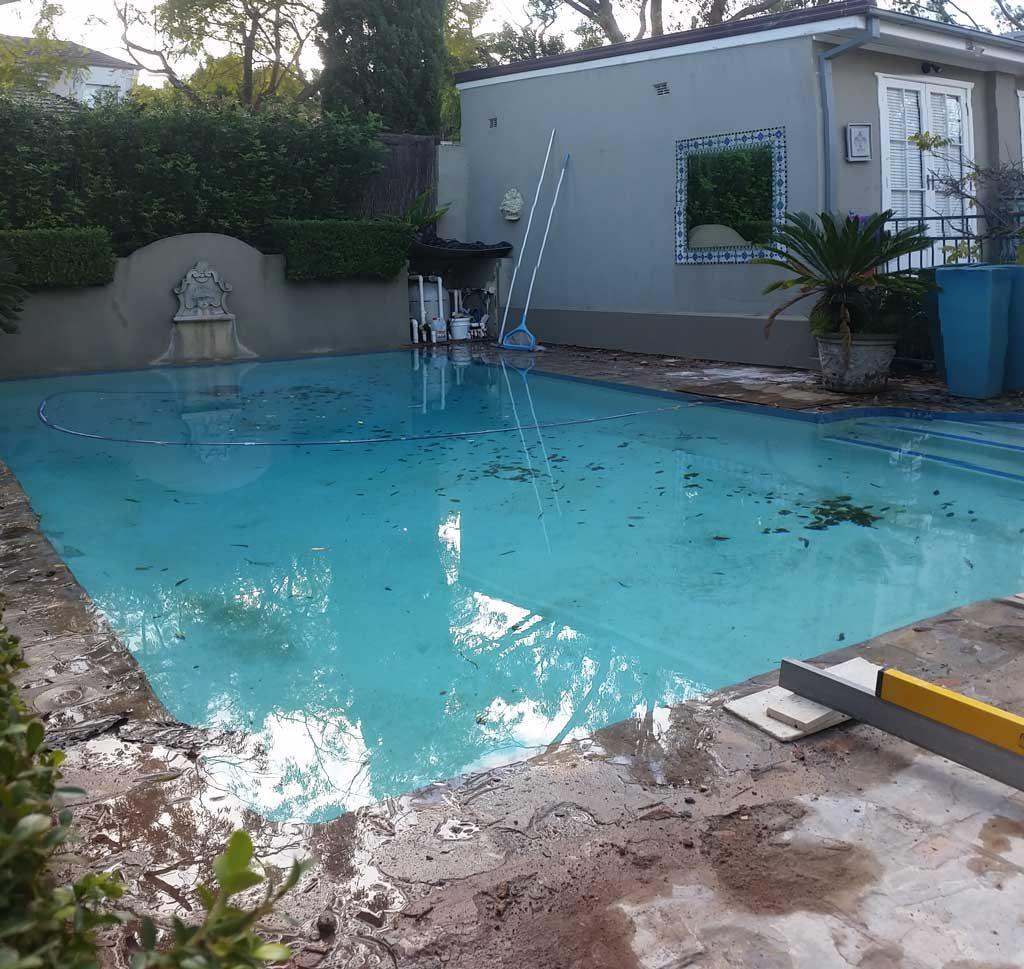 Before pool renovation