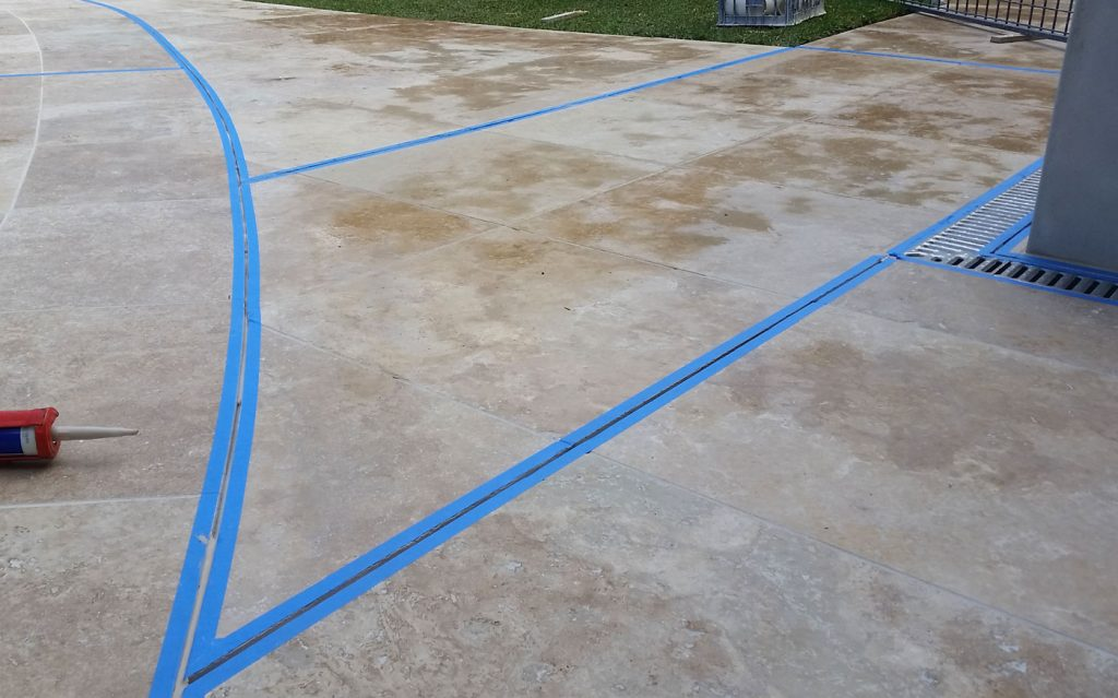 Preparation for expansion joint