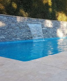 Interior Pool Tiling, Feature Waterfall & Surround